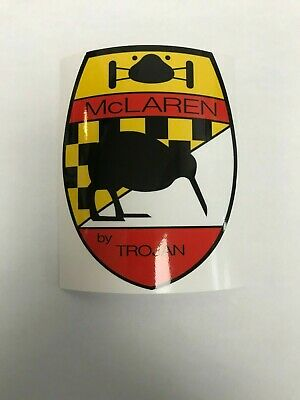 1970 VINTAGE McLAREN DECAL STICKER BY TROJAN CAN-AM RACING M12 FREE SHIPPING
