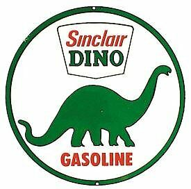 Sinclair Dino Gasoline Round Retro Vintage Tin Sign.