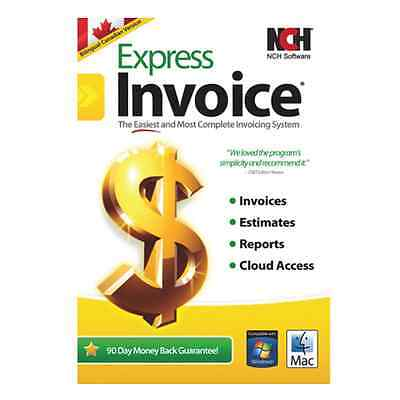 EXPRESS INVOICE FOR MAC & PC NCH SOFTWARE Sealed NEW!!