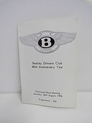 BENTLEY DRIVERS CLUB - SILVERSTONE SATURDAY 28th AUGUST 1976
