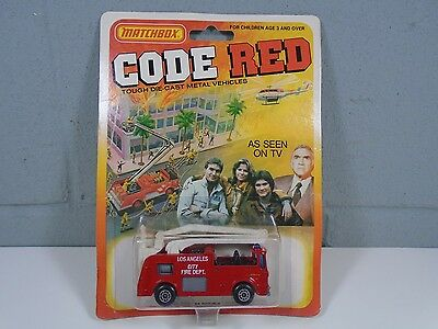 Matchbox CODE RED Snorkel Fire Truck Lesney City of Los Angeles Fire Dept. 1981