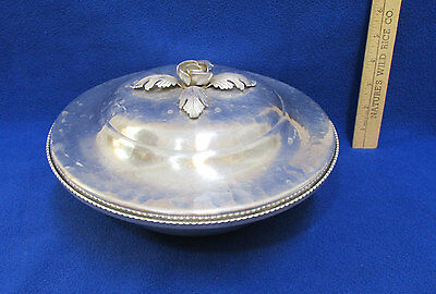 Vintage Continental Aluminum Serving Dish w/ Lid Hand Wrought Silverlook 557