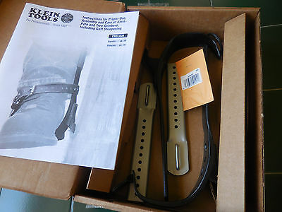 """New Klein 1907Ar Tree Climbers With 2-3/4"""" Gaffs Without Pads & Straps"""