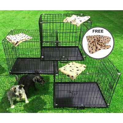 Small Medium Large XL XXL Pet Dog Cage Crate Foldable Carry Transport Carrier
