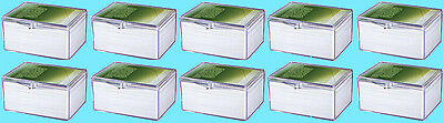 10 ULTRA PRO 100 COUNT CLEAR HINGED CARD STORAGE BOX Case Holder Game MTG Magic