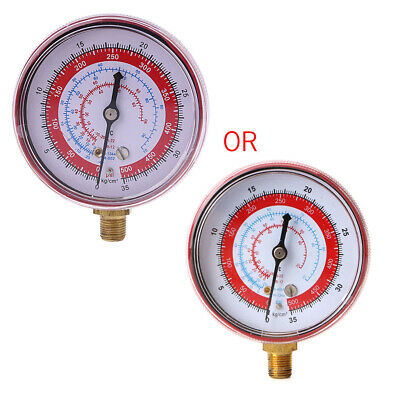 Air Conditioner R404 R134A R22 R12 Refrigerant High PSI KPA Pressure Gauge Red