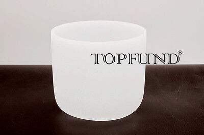 Frosted  F Heart Chakra Quartz Crystal Singing Bowl 6 inch