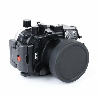 40m/130ft Full Waterproof Underwater Housing Case Cover for Canon G7X Camera AU
