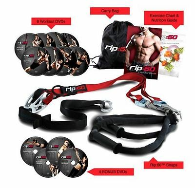 TRX Home Gym Body Fitness Resistance Trainer Band Kit Exercise Strenght Workout