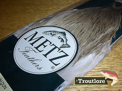 Metz Medium Dun Cock Neck #3 For Dry Flies Hackles New Fly Tying Cape Feathers