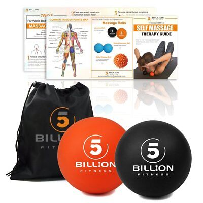 PROCIRCLE 2x Massage Lacrosse Balls for Myofascial Release Trigger Point Therapy