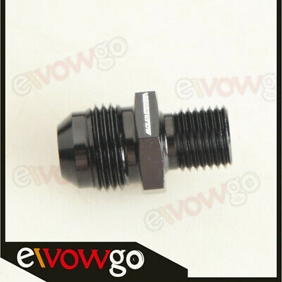 8AN -8AN AN8 AN-8 Male Flare To M14x1.5 Metric Straight Fitting Black