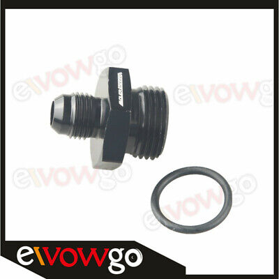 AN-6 6AN To AN-10 10AN 7/8-14 UNF Straight Cut Male Adapter With O-Ring Black