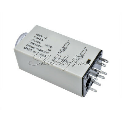 DC 12V H3Y-2 0-30 Minutes Power on Timer Time Delay Relay 8 Pin TH283
