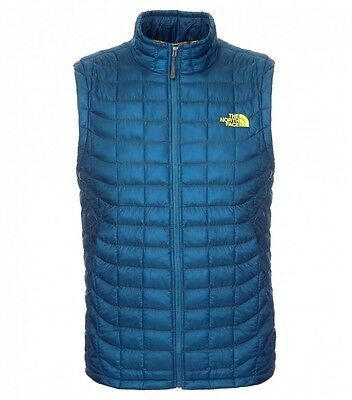 The North Face Men's THERMOBALL VEST Synthetic 600 Down Insulated GILET Blue XL