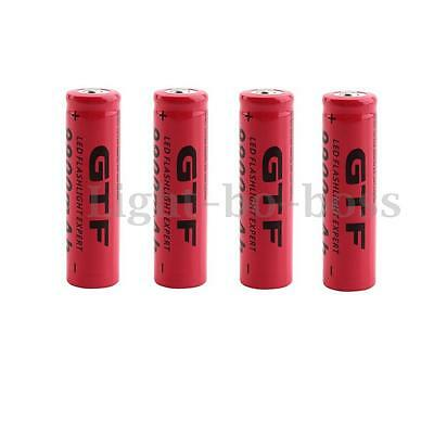 1/2/4//8/10pcs TR 18650 9900mAh 3.7V Li-ion Batterie rechargeable pile Flashligt