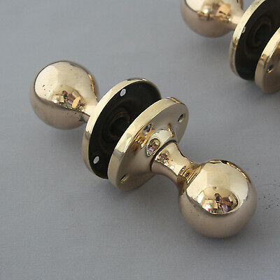 Antique Rose Brass Door Knobs