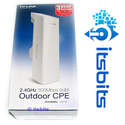 TP-LINK CPE210 V1.1 2.4GHz HIGH POWER 300Mbps WIRELESS OUTDOOR CPE ACCESS POINT