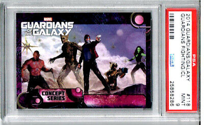 2014 Guardians/ Galaxy Guardians Fighting/ CL PSA 9