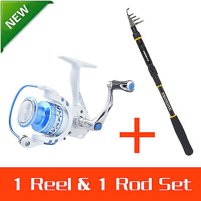 KastKing Spinning Rod and Reel Combos Telescopic Fishing Rod with Reel Combo