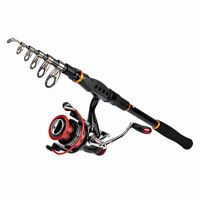 KastKing Telescopic Fishing Rod with Reel Combos for Bass Trout Crappie Fishing