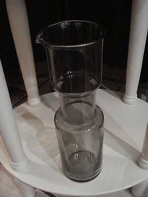 Danish Design by Waterquest - Grosse Karaffe aus Rauchglas - Vintage
