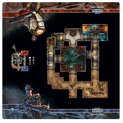 Star Wars Imperial Assault Coruscant Landfill Playmat