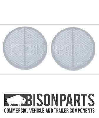 *Trucklite Front Clear Round Self Adhesive Reflector (Pair) Bp76-077