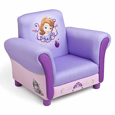 New Delta Children Disney Sofia First Upholstered Chair Kids Padded Armchair