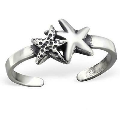 Sterling 925 Silver Toe Ring - Starfish Design - Boxed