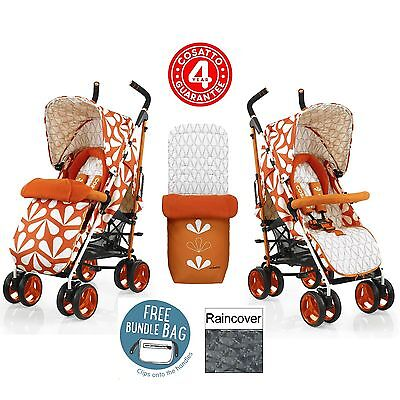 New Cosatto Sunny Chacha Stroller Baby Buggy Pushchair Footmuff Raincover