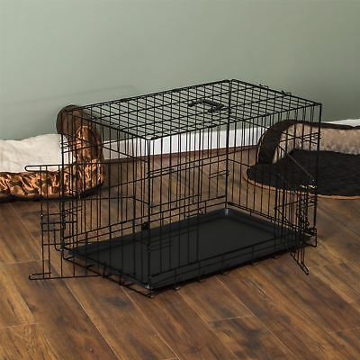 Pet Cage Dog Cat Puppy Training Folding Crate Animal Transport 36 Inch Metal