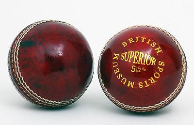 NEW Stunning Red British Sports Museum 5 1/2oz Cricket Ball (CB01R)
