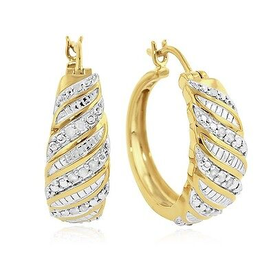 1/4 Carat Natural Diamond Fashion Earrings in Gold Over Sterling Silver