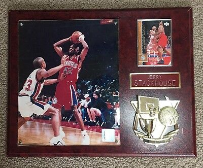 Jerry Stackhouse Photo And Card Commemorative Plaque