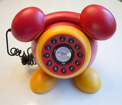 Disney Mickey Mouse Ears & Feet Red & Yellow Desk Phone Telephone