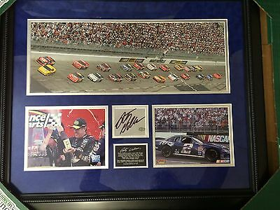 Rusty Wallace NASCAR #2 Framed Photo Collage Autographed Martinsville Win 1989