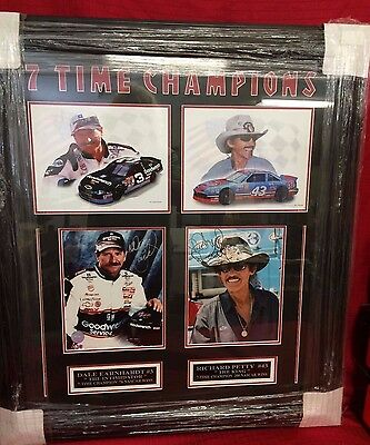 Earnhardt Sr #3 The Intimidation Petty #43 The King Autographed 7 Time Champions