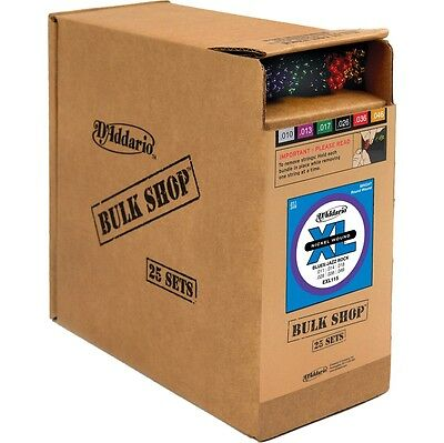 D'Addario EXL115 Blues/Jazz Bulk -Pack Guitar Strings Medium  25 Sets  25 Sets