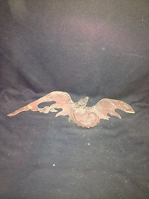"Early 18"" Chinese Carved Wood Figural Bat Pediment"