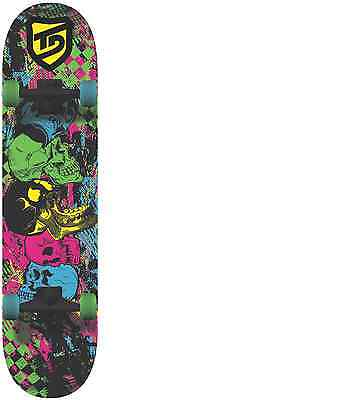 "True/Drive Skateboard - 7.5""x31"" - Complete-9 ply Maple - Abec 5 Carbon - Skulls"