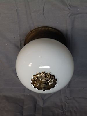 Vintage Porch Ceiling Light Fixture Whitw Glass Globe Bathroom Kitchen 1581-16