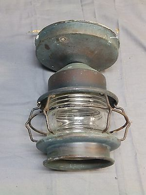 Antique Mission Arts Crafts Copper Porch Ceiling Caged Light Fixture Vtg 1582-16