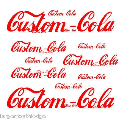 Custom Soda Bottle Decal For Less Cola 6""