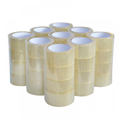 "36 Rolls Box Carton Sealing Packing Packaging Tape 2""x110 Yards(330' ft) Clear"