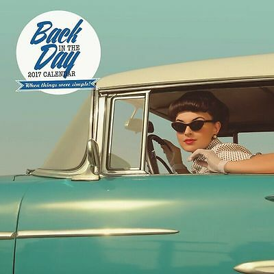 Back in the Day 2017 Wall Calendar NEW by Paper Pocket