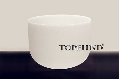 432Hz Perfect Pitch AThird Eye Chakra Frosted Quartz Crystal Singing Bowl 8''