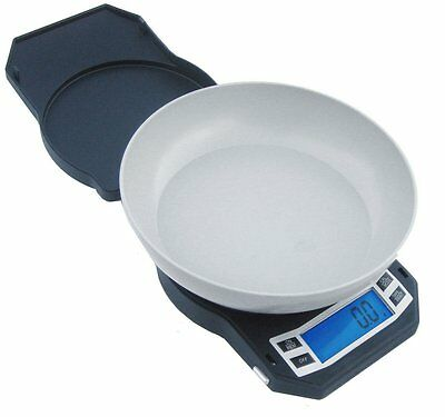 American Weigh Scales LB-1000 Compact Digital Scale with Removable Bowl, Black