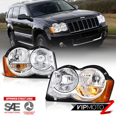 For 08-10 Jeep Grand Cherokee [FACTORY REPLACEMENT] Front Headlights LEFT+RIGHT