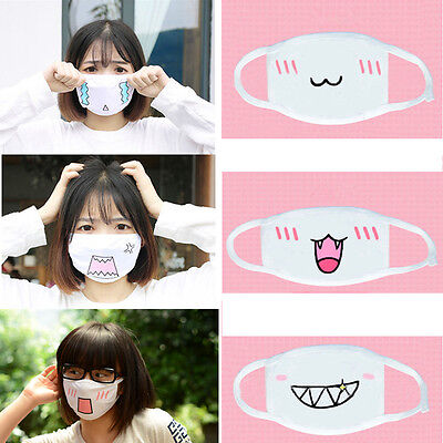 Cute Kaomoji Emoticon Face Mask Anime Anti-Dust Cotton Mouth-muffle Masks Unisex